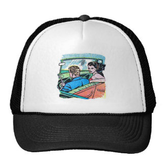 Kitsch Vintage Comic Road Trip Romance Hats