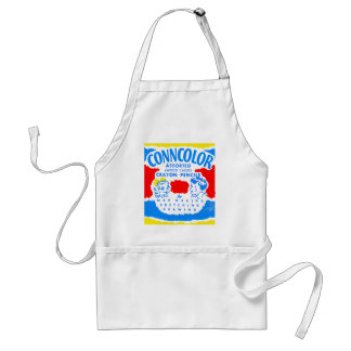 Kitsch Vintage Conncolor Coloring Crayons Box Standard Apron