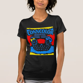 Kitsch Vintage Conncolor Coloring Crayons Box Tee Shirts