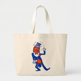 Kitsch Vintage Drunk Hot Dog Large Tote Bag
