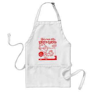 Kitsch Vintage Fried Chicken Ad Art Standard Apron