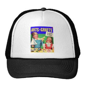 Kitsch Vintage Kid's 'Arts & Crafts' Book Trucker Hat