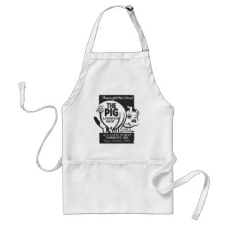 Kitsch Vintage Matchbook The Pig Shop Standard Apron