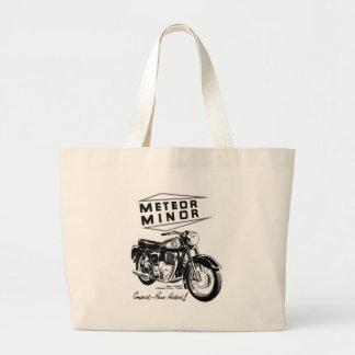 Kitsch Vintage 'Metor Minor' Motorcycle Bikers Large Tote Bag