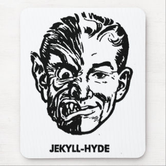 Kitsch Vintage Monster Dr. Jekyll & Mr. Hyde Mouse Pad