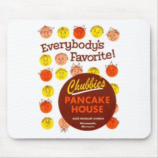 Kitsch Vintage Pancake House 'Chubbie's' Mouse Pad