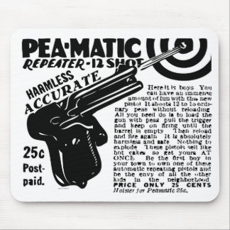 Kitsch Vintage Peamatic Pea Shooter Toy Mouse Pad