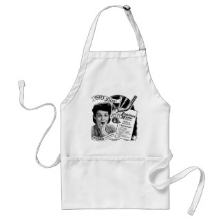 Kitsch Vintage Phonograph Record Needle Standard Apron