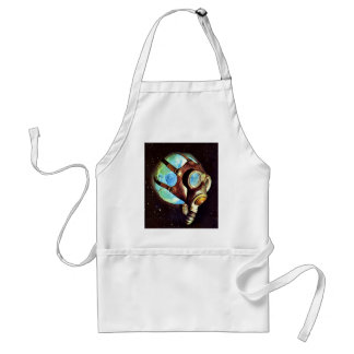 Kitsch Vintage Polluted Earth Gas Mask Aprons