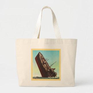 Kitsch Vintage Pulp War 'Sinking Ship' Bag