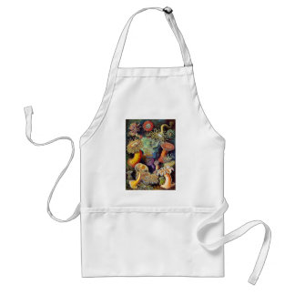 Kitsch Vintage Scientific Illustration Anemones Standard Apron