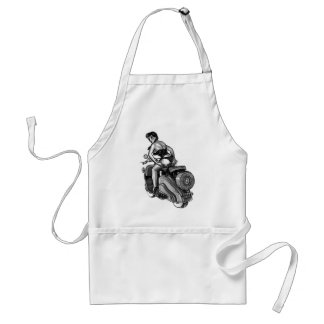 Kitsch Vintage Scooter Pin-Up Girl Standard Apron