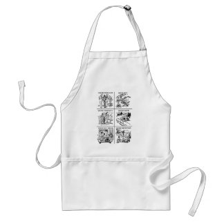 Kitsch Vintage 'The Value of Women, They Float!' Aprons
