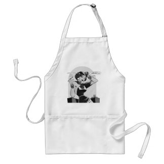 Kitsch Vintage This Lady is Trouble Comic Standard Apron