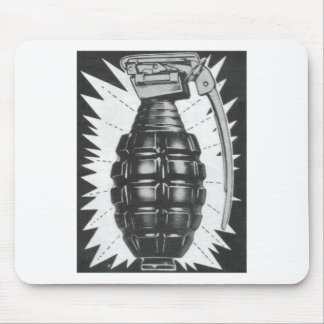 Kitsch Vintage Toy Hand Grenade Ad Art Mouse Pad