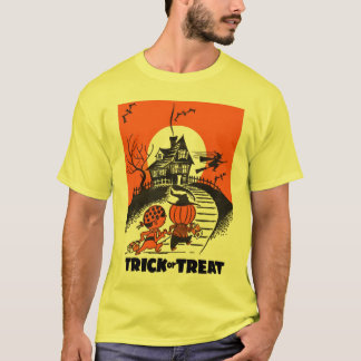 Kitsch Vintage 'Trick or Treat' Halloween Kids T-Shirt