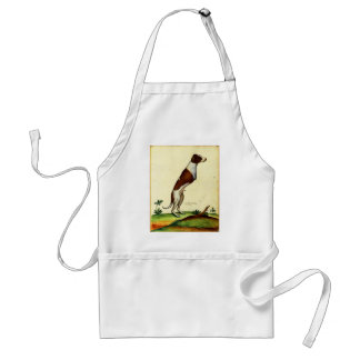 Kitsch Vintage Two Legged Dog Medieval Art Standard Apron
