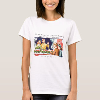 Kitsch Vintage We Missed You Sunday School T-Shirt
