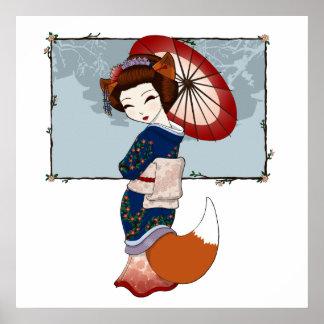 Kitsune Geisha Prints