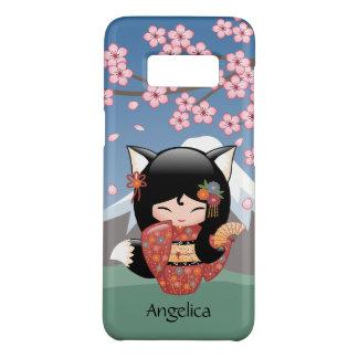 Kitsune Kokeshi Doll - Black Fox Geisha Girl Case-Mate Samsung Galaxy S8 Case