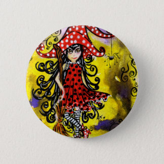 Kitsy the witch (color) 6 cm round badge