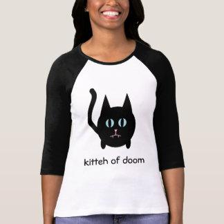 Kitteh of doom black cat t shirt