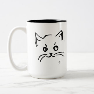 Kitten - Adolf Lorenzo Two-Tone Coffee Mug