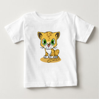 Kitten and Butterfly Baby T-Shirt