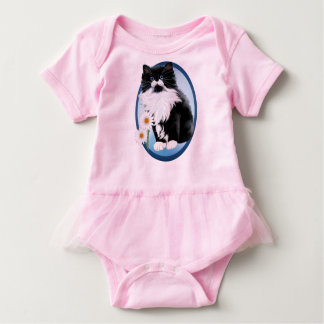 Kitten and Daisy Baby Bodysuit