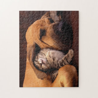 Kitten and Dog Best Friends Puzzle