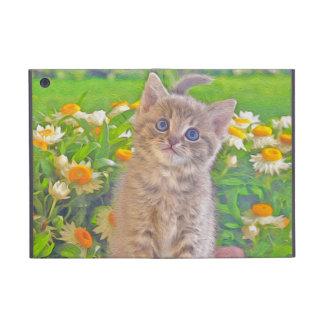 Kitten and Flowers iPad Mini Case