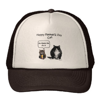 Kitten and Grumpy Cat Father's Day Trucker Hat