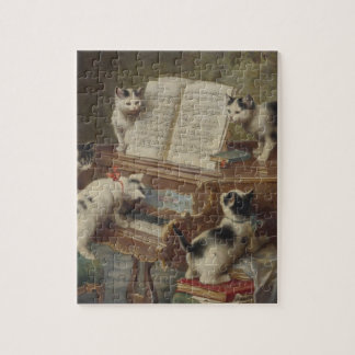 Kitten and piano jigsaw puzzle