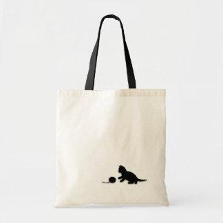 Kitten and Yarn Silhouette Bag