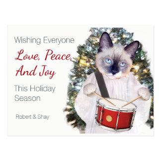 Kitten Carol Christmas Postcard