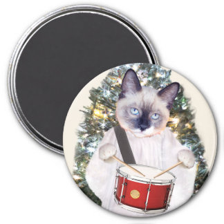 Kitten Carol Holiday Magnet