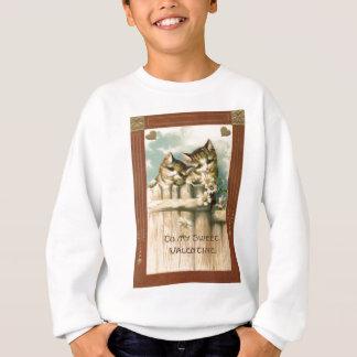 Kitten Cat Daisy Daisies Fence Sweatshirt