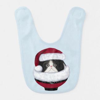 Kitten Cat Holiday Santa Baby Bib