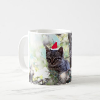 Kitten Christmas time  Classic White Mug