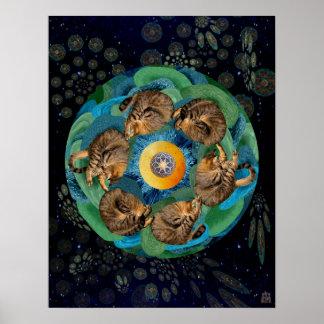 Kitten Cosmos (Felis catus nebula) Poster