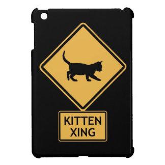 kitten crossing iPad mini cover