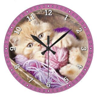 Kitten Decorative Wall Clock