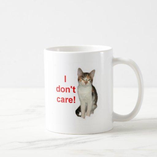Kitten Doesnt Care Mug