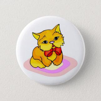 Kitten Drawing 6 Cm Round Badge