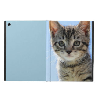 Kitten face up-close iPad air cases