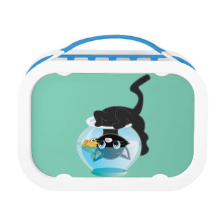 Kitten, Fish and Bowl Lunch Box