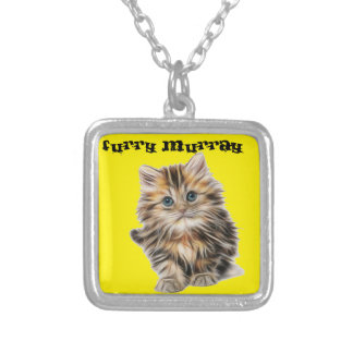 Kitten Furry Murray So Cute and Hairy Silver Plated Necklace