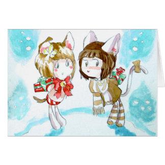Kitten Gift Exchange Card
