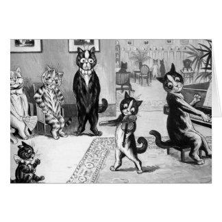 Kitten Giving a Recital Card