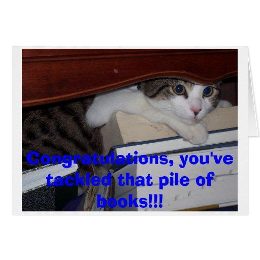 Kitten Graduation Greeting Card